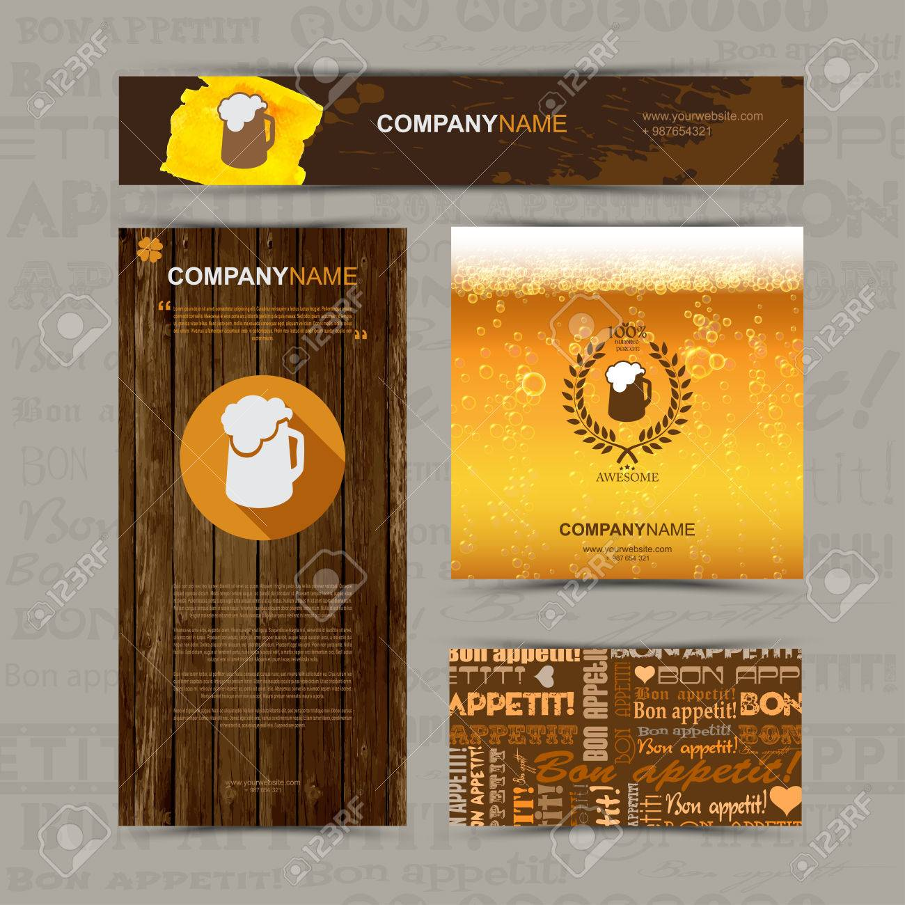 Business card cafe choice image free business cards template of identity for beer restaurant cafe bar business template of identity for beer restaurant cafe magicingreecefo Choice Image