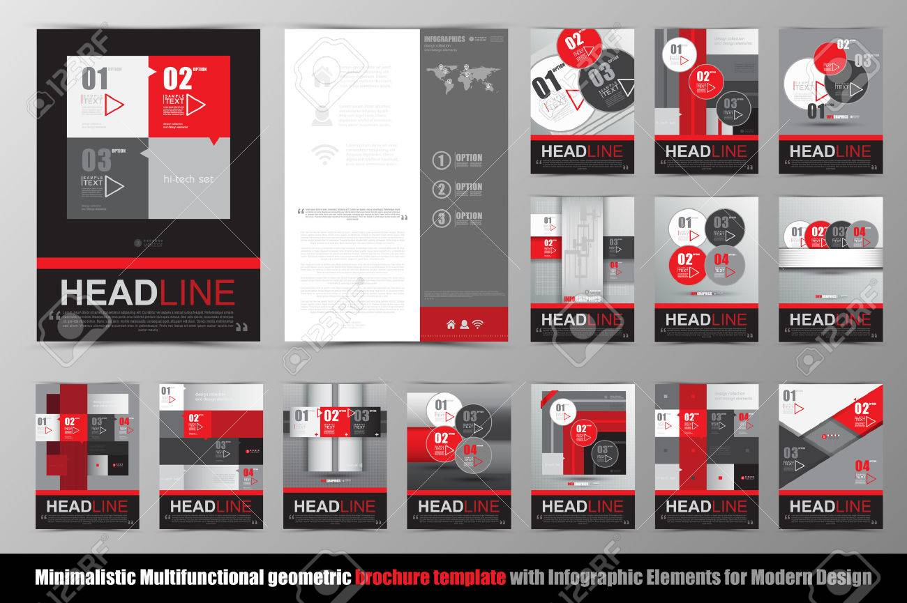 Abstract Geometric Brochure Template. Map.Flyer Layout. Stock ...