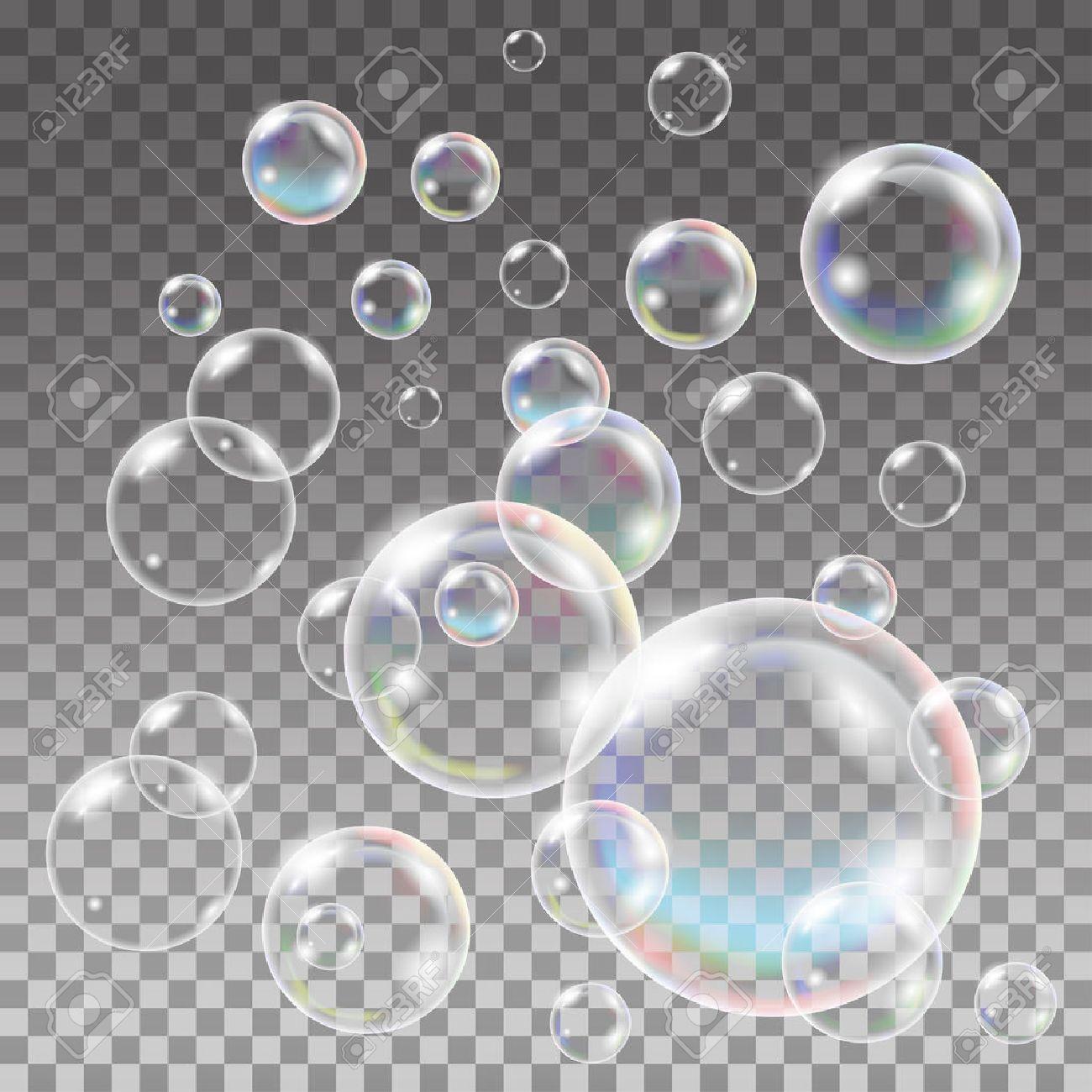 b226a1adf Foto de archivo - Jabón multicolor transparente Conjunto de las burbujas.  esfera de la bola, azul agua y espuma, gel de aqua. Agua modelo de las  burbujas en ...