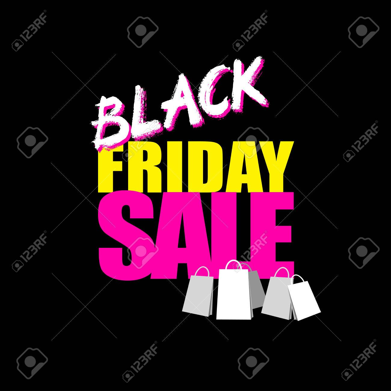 Black Friday Sale Card Or Banner Perfect For Branding Greeting