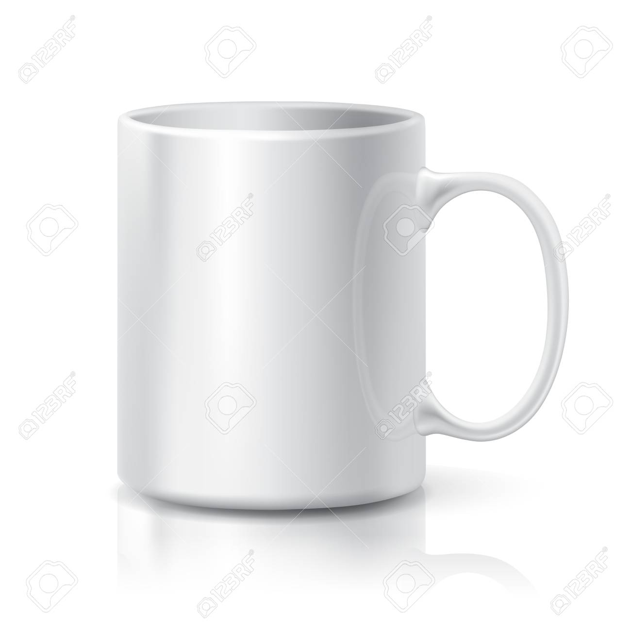Realistic white coffee or tea cup isolated on white background realistic white coffee or tea cup isolated on white background design template for mock up maxwellsz