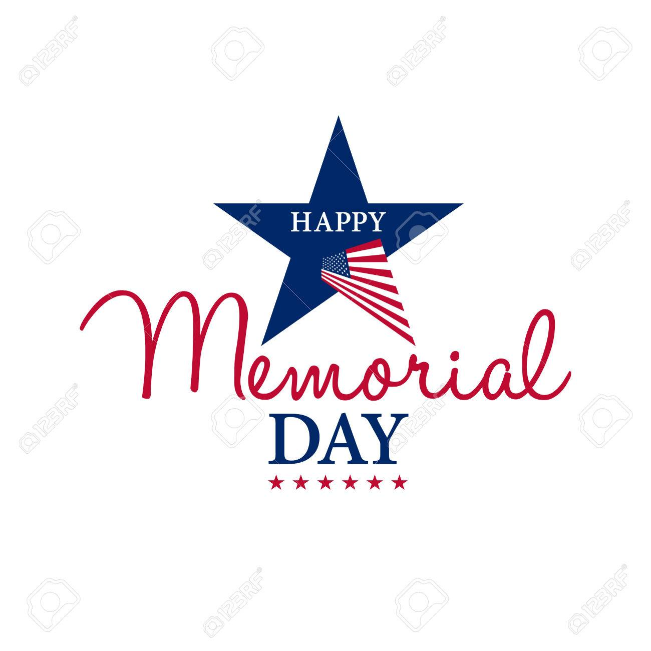 happy memorial national american day card or background with