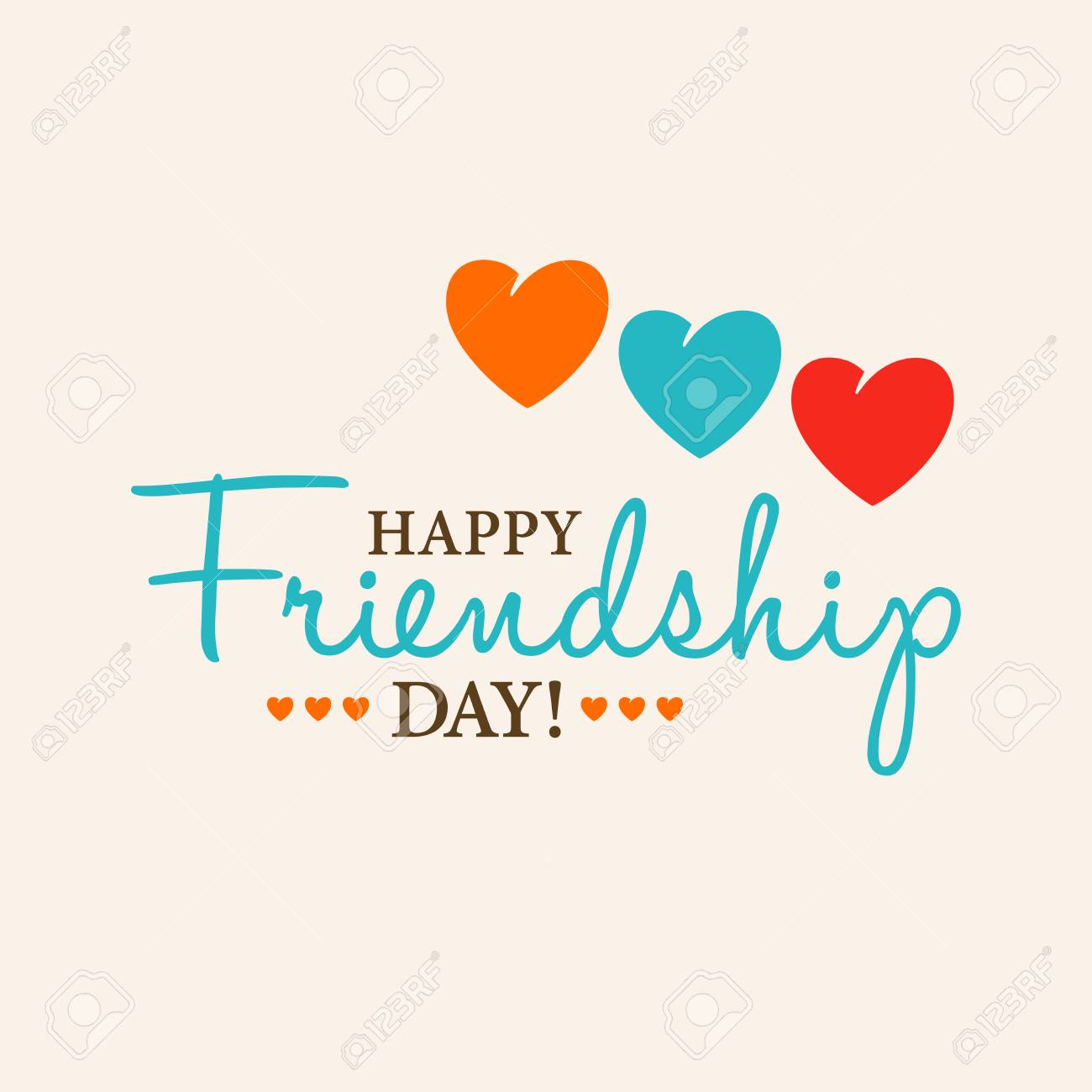 Happy Friendship Day Card Or Background 30th Of July Festive Poster Banner With