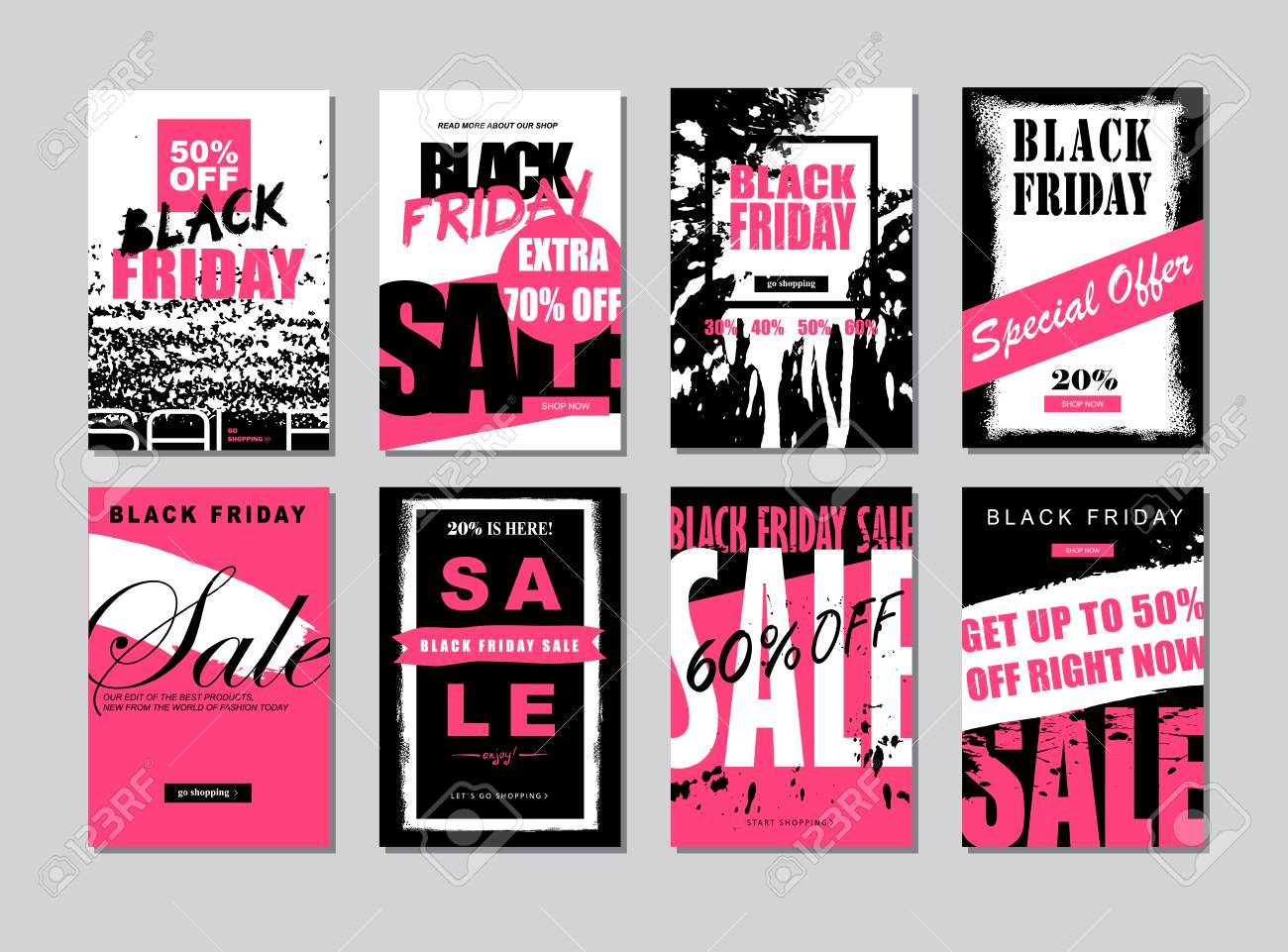 Set Of Templates Banners For Websites And Mobile Websites Black Royalty Free Cliparts Vectors And Stock Illustration Image 87356717