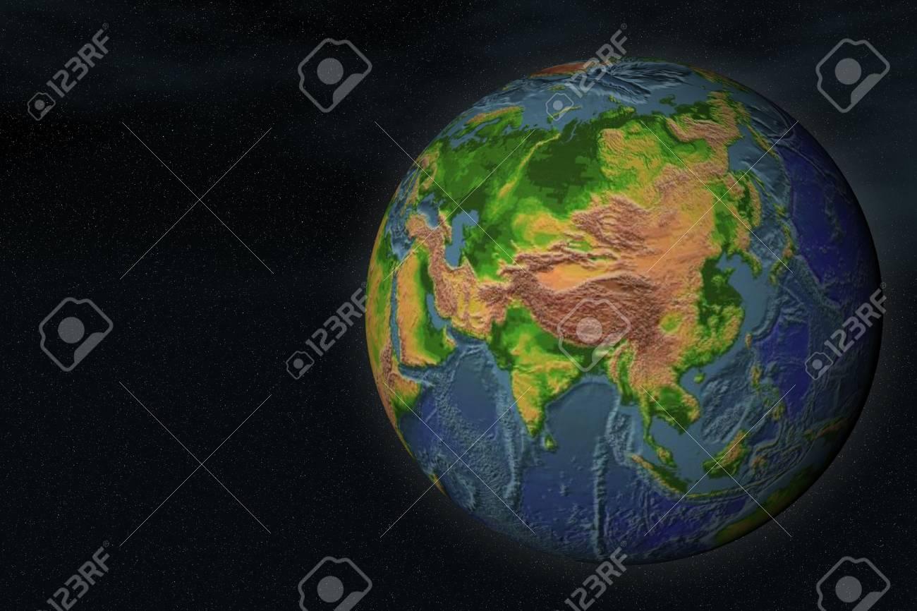 Simulated Earth (virtual galaxy, computer generation)