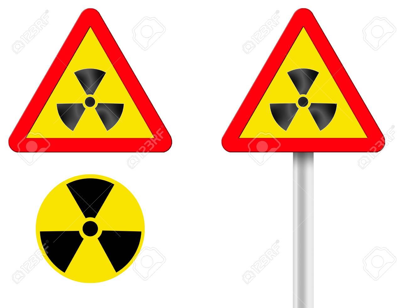 token of raised radiation. A computer illustration Stock Photo - 1799225