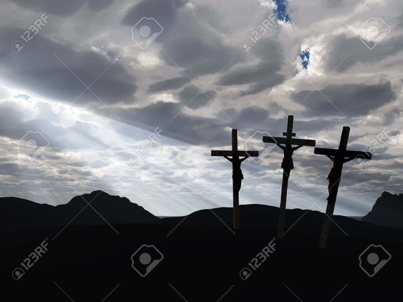 The crucifixion  A cross with Jesus Christ  A bible theme