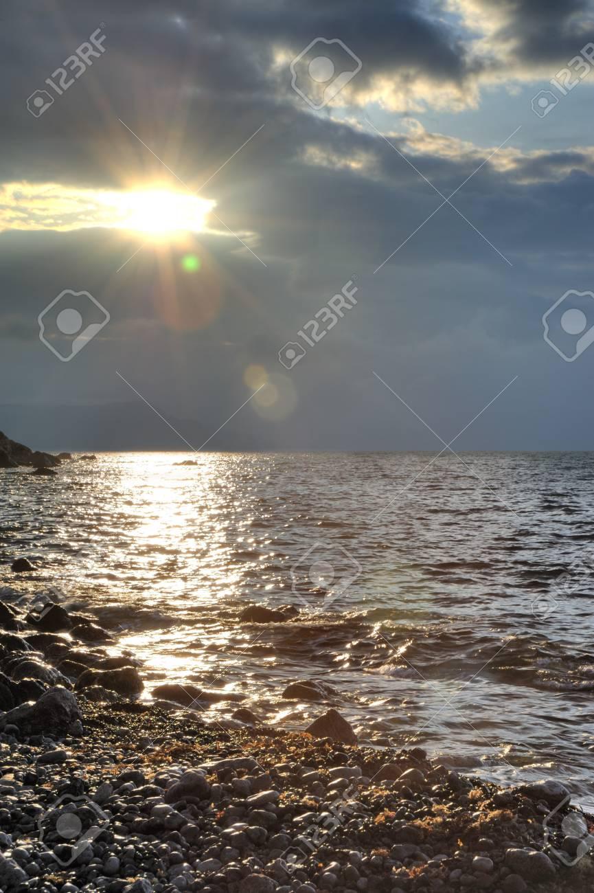 The night sea. The sea photographed at a dawn with long endurance. Crimea, Ukraine Stock Photo - 4581268