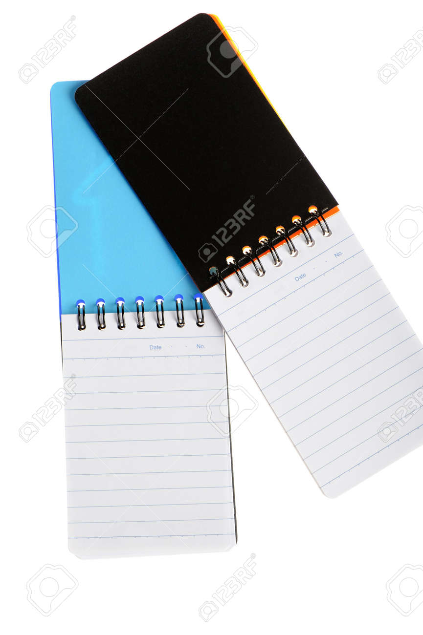 Notebook. Paper sheets in a cell on a spiral Stock Photo - 6466068