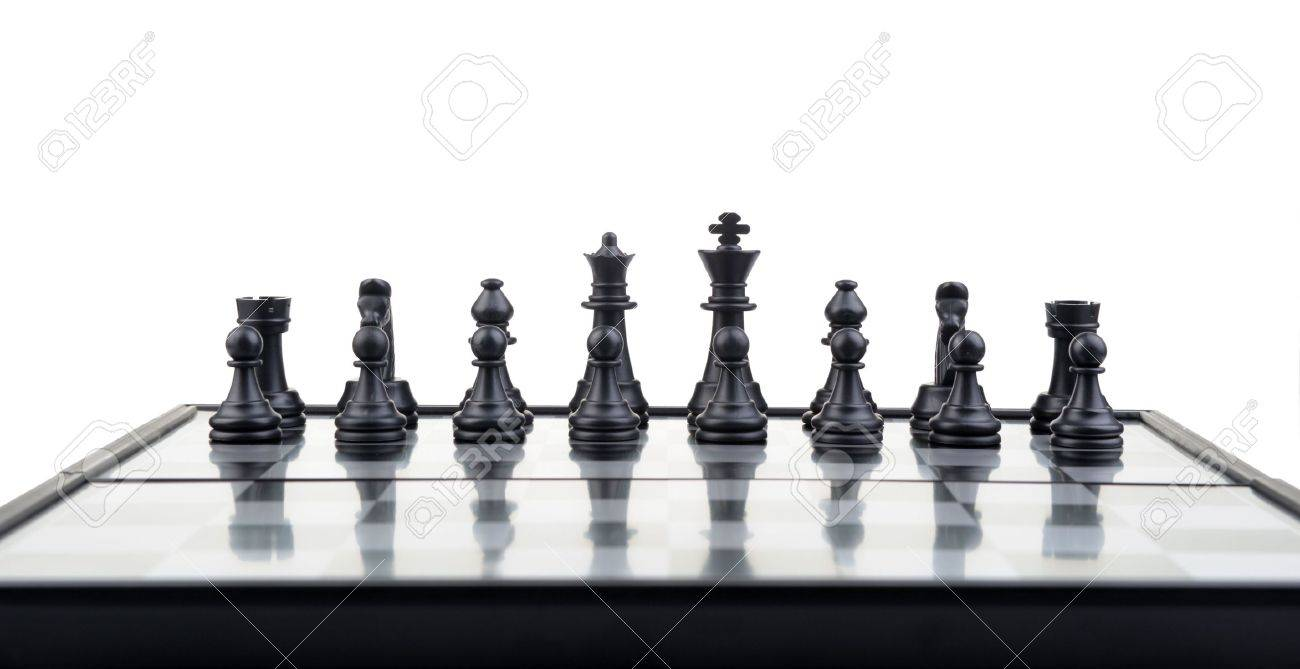 Chess. Desktop logic game.Perspective view Stock Photo - 6826615