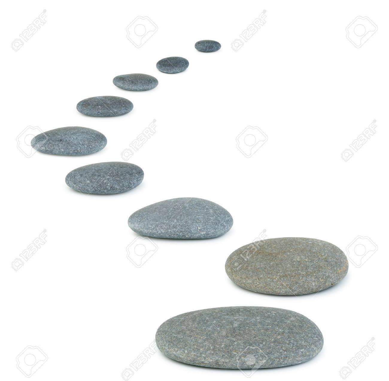 Row pebbles. Sea stones. It is isolated on a white background Stock Photo - 6892607