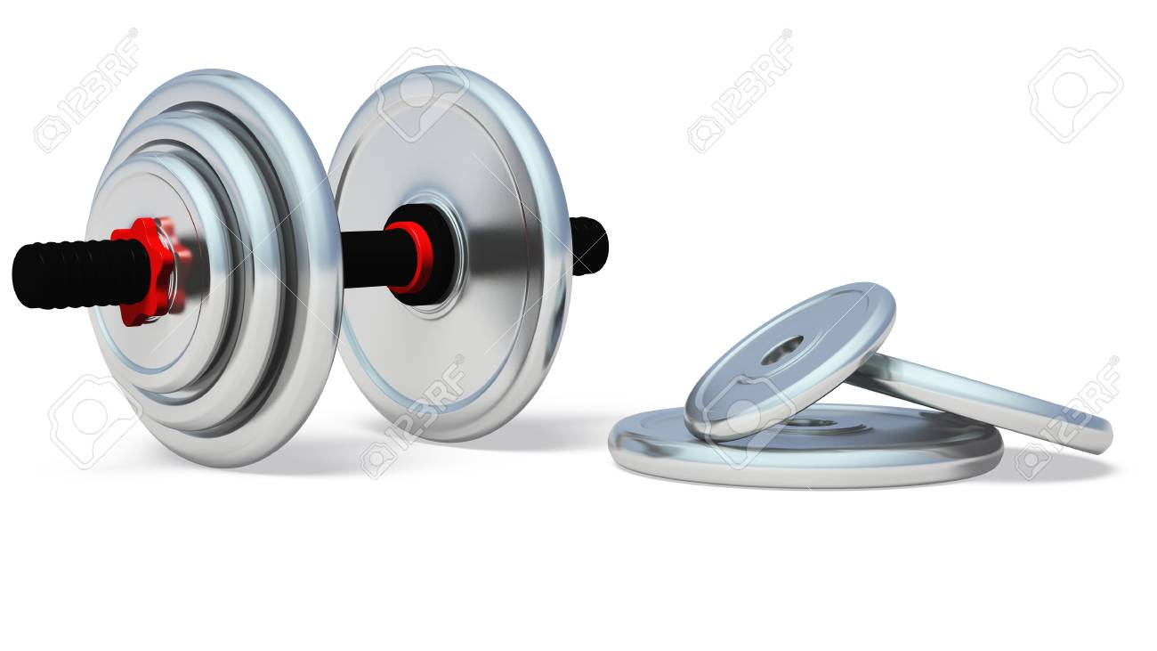 Dumb bell. It is isolated on a white background Stock Photo - 12920747
