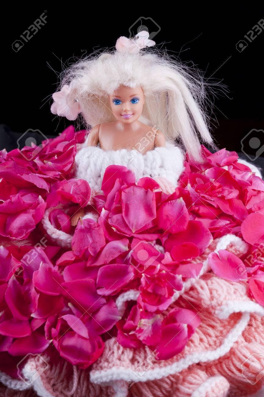 分離されたバラのドレスとバービー人形グッズ の写真素材画像素材