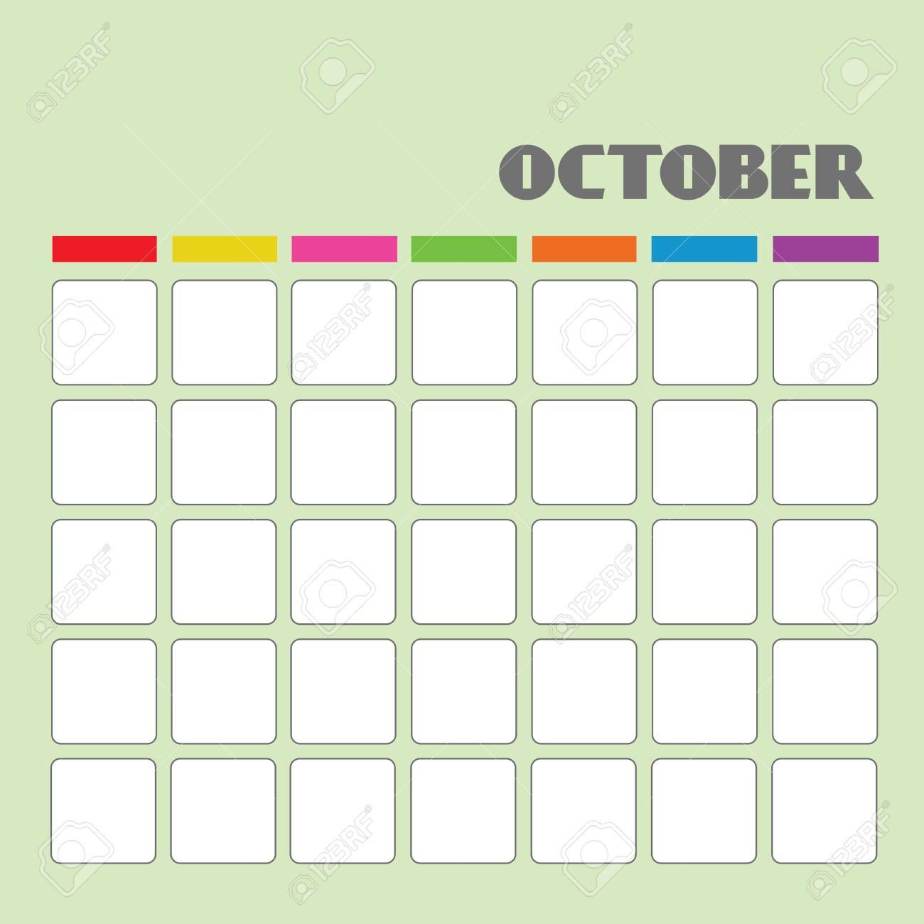 Blank calendar for your use Stock Vector - 18058607