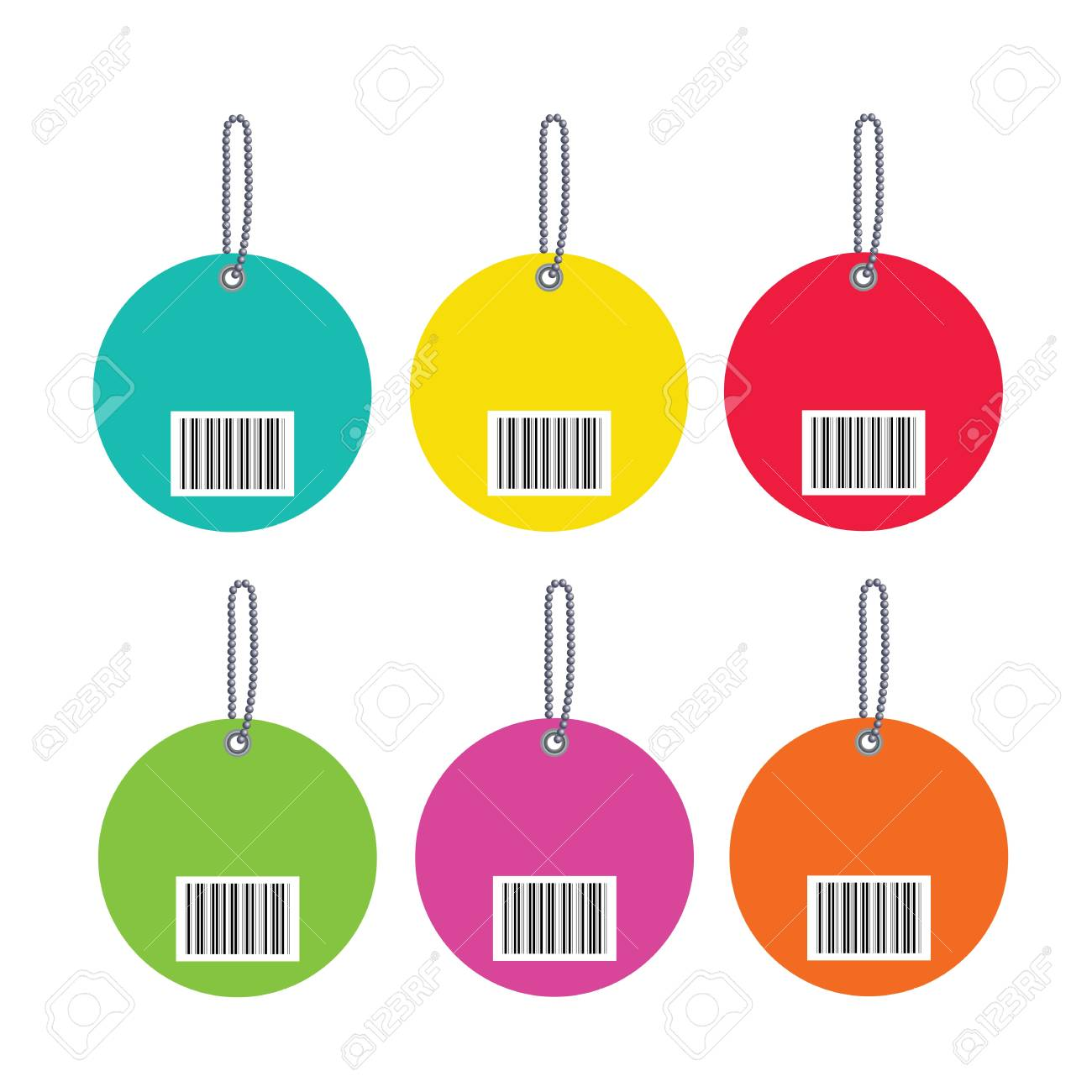 Barcodes isolated on white background Stock Vector - 19197662