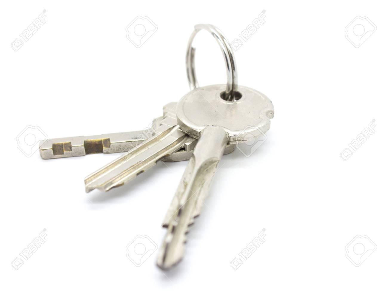 door keys on white background Stock Photo - 26313460