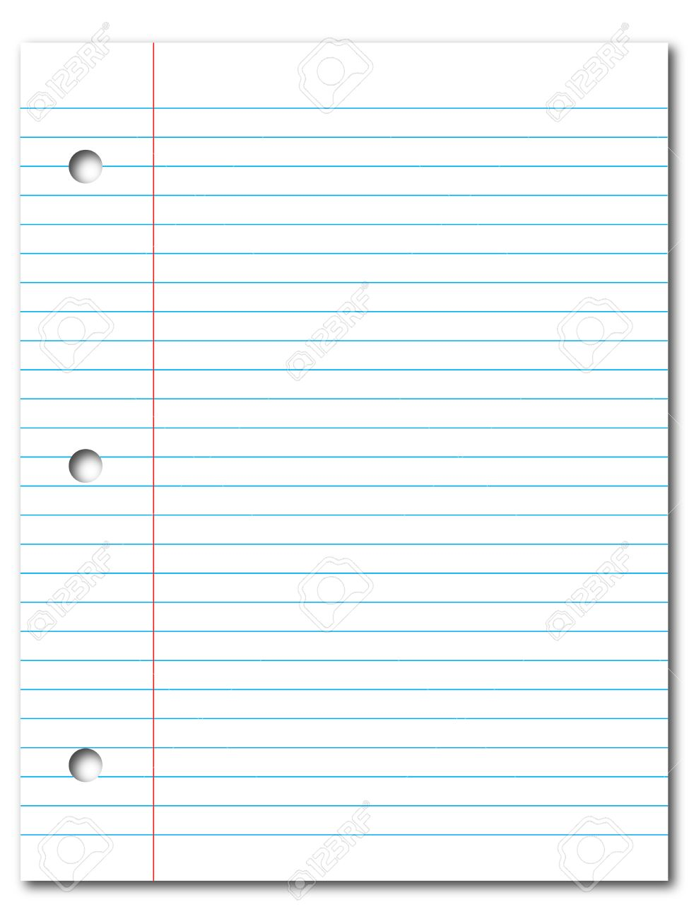 Doc500386 Printable Lined Notebook Paper Free Printable – Printable Lined Notebook Paper