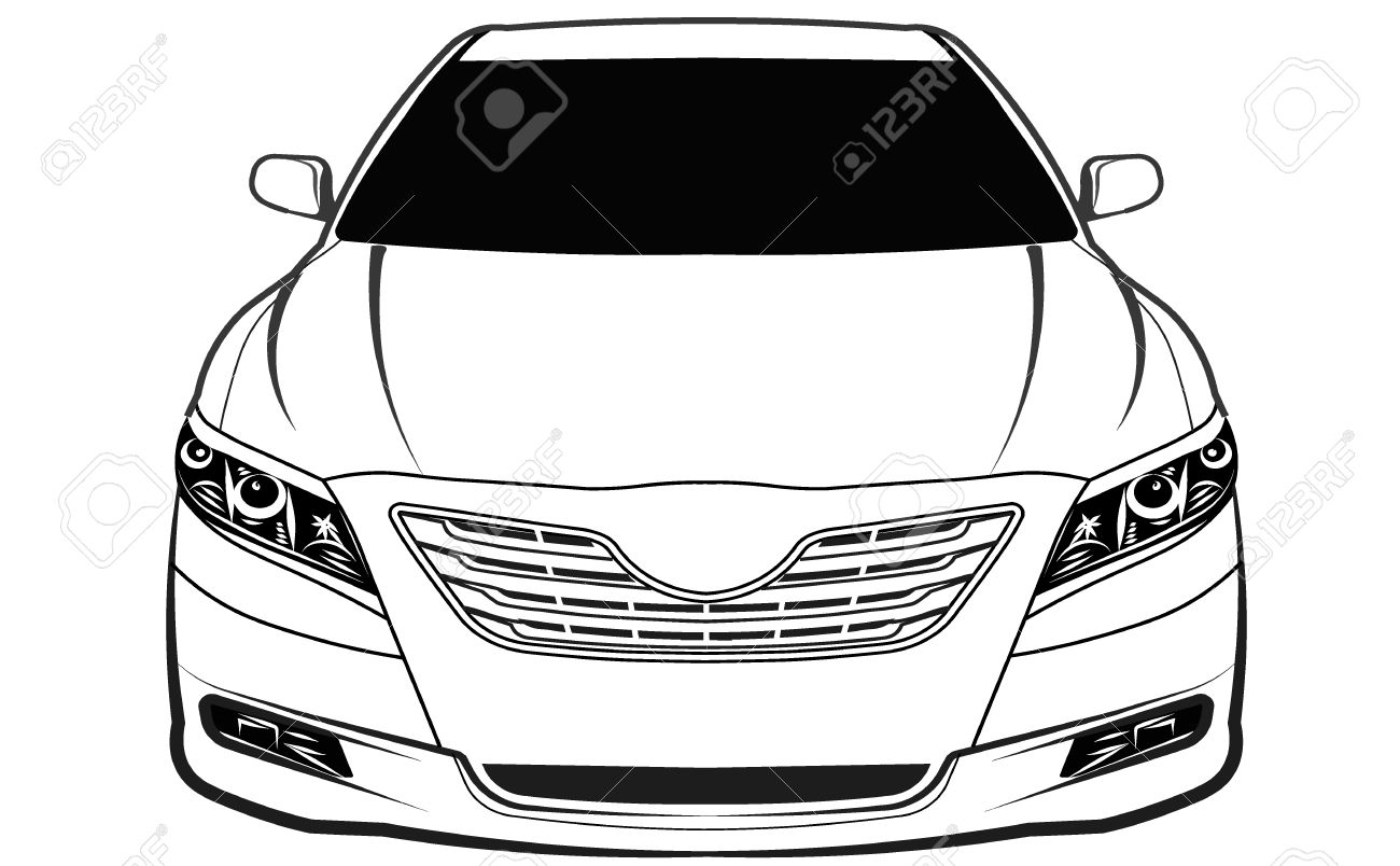 Car Front View Isolated Royalty Free Cliparts Vectors And Stock