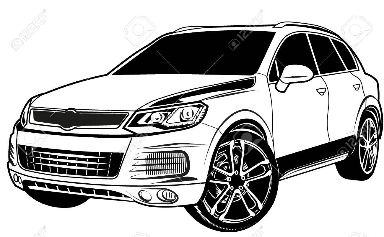 Car Crossover Suv Royalty Free Cliparts Vectors And Stock