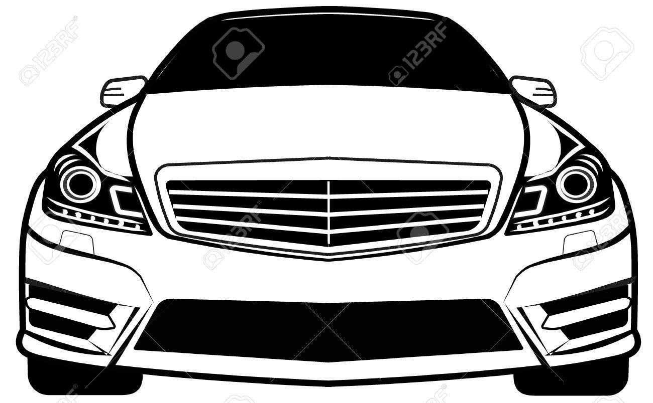 Car Front View Royalty Free Cliparts Vectors And Stock