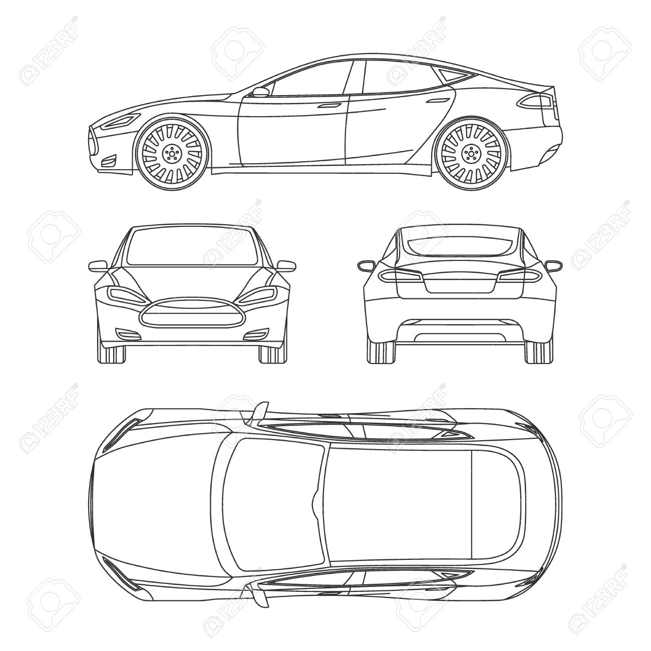 Blueprint Car Stock Photos. Royalty Free Blueprint Car Images