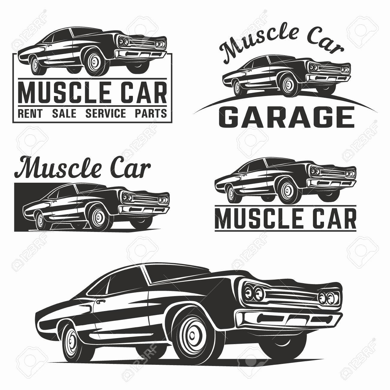 Muscle car vector poster illustration - 58812771