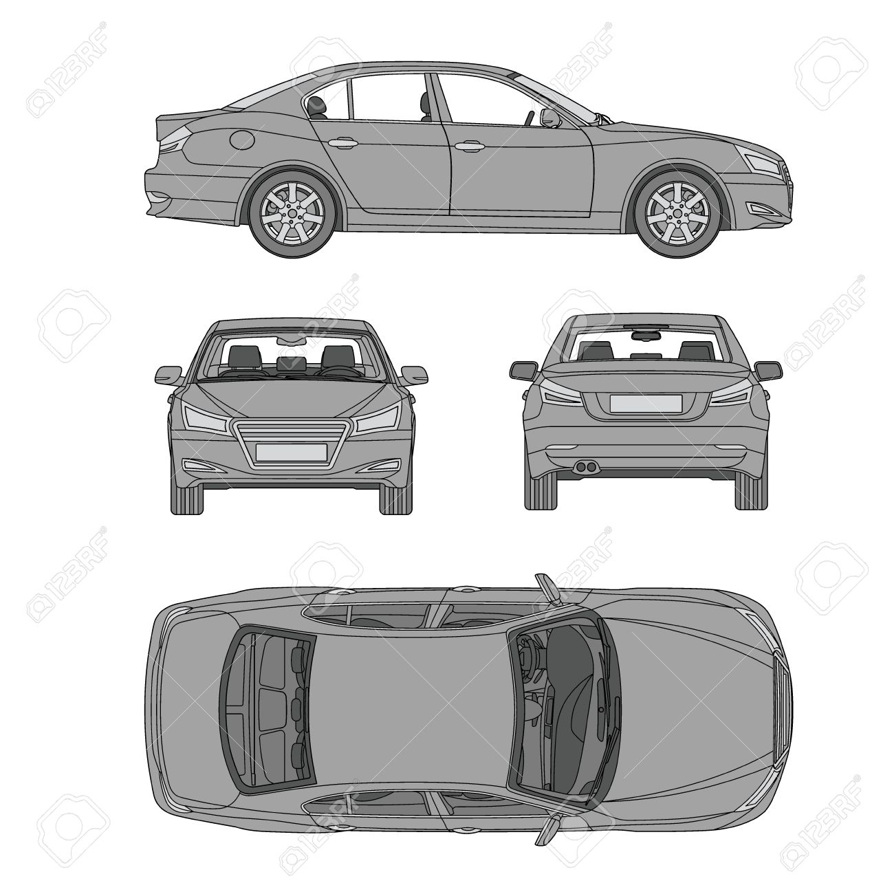 Car line draw insurance rent damage condition report form car line draw insurance rent damage condition report form blueprint stock vector 58812895 malvernweather Image collections