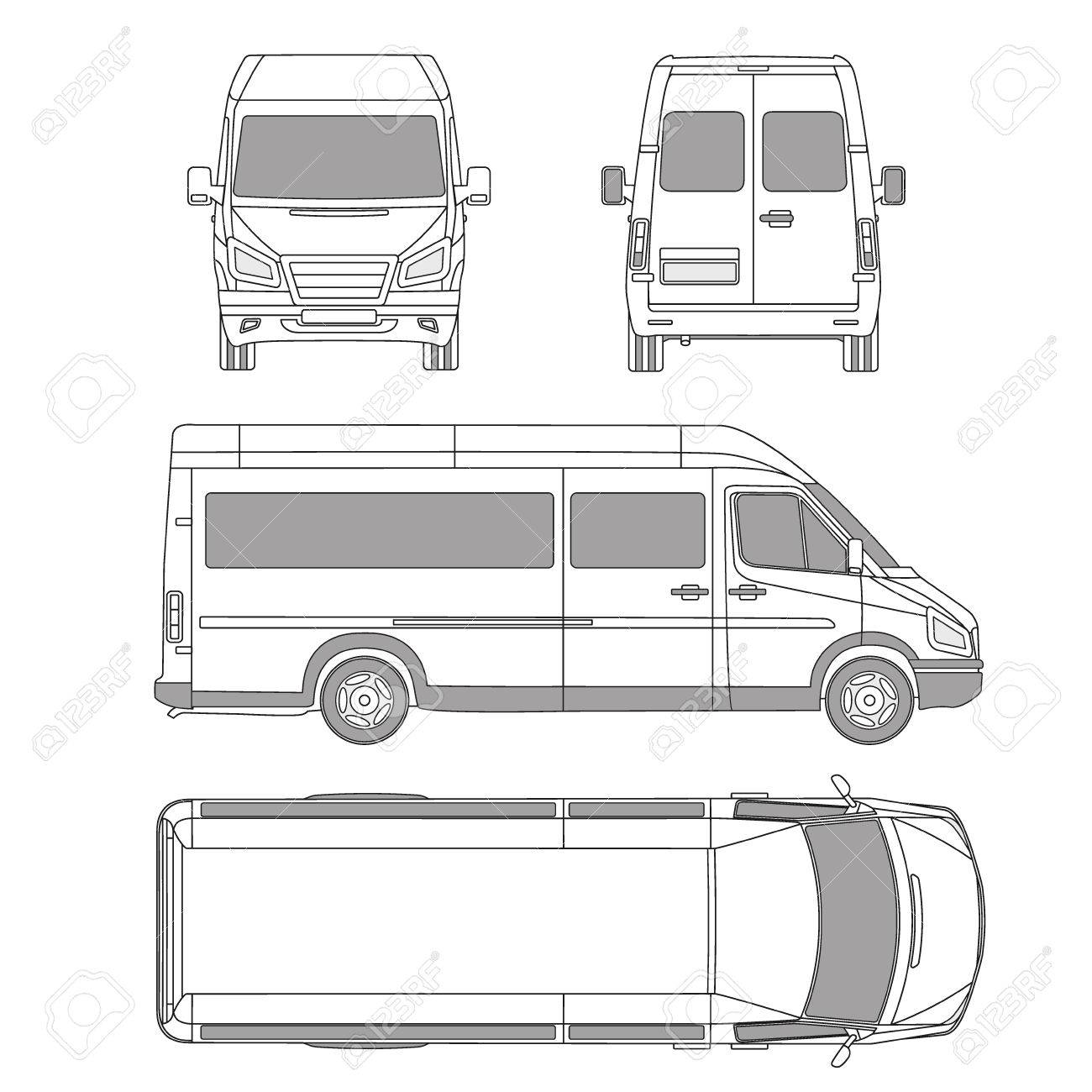 Vector Service Car Template. White Blank Commercial Vehicle ...
