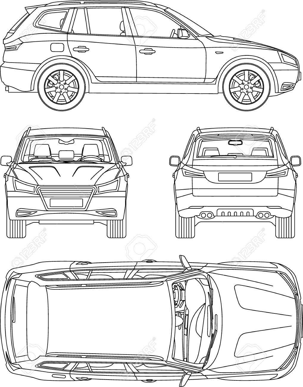 Blueprint Of Car - Dolgular.com