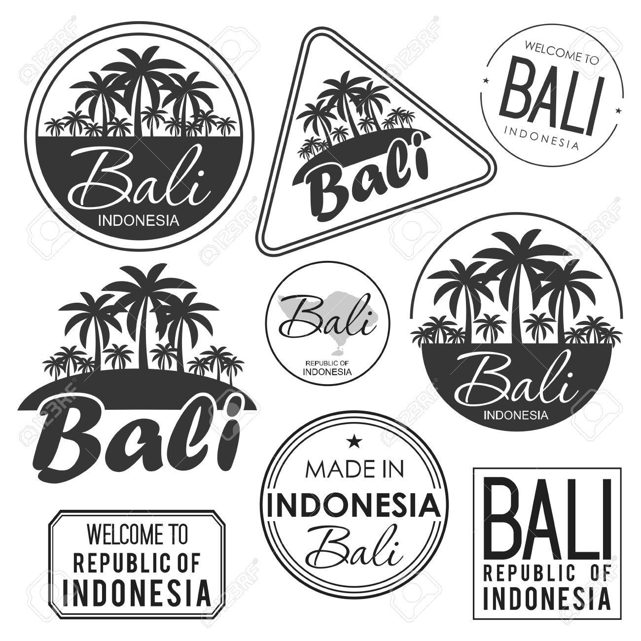 Stamp With The Name Of Bali Island Vector Illustration Royalty Free