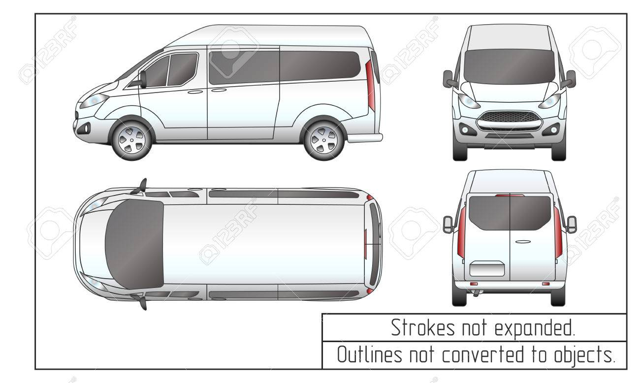 Car van drawing outlines not converted to objects royalty free car van drawing outlines not converted to objects stock vector 69138586 malvernweather Choice Image