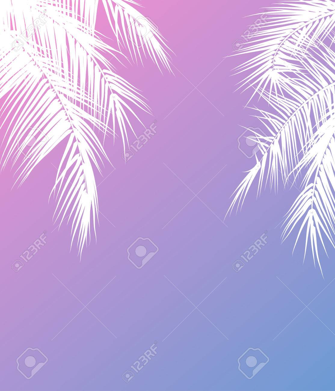 Summer Holidays Vector Illustration With Palm Trees Template