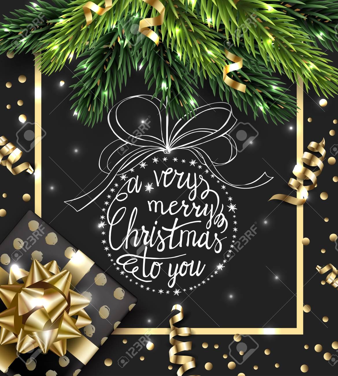 Foto Con Auguri Di Buon Natale.Auguri Di Buon Natale E Felice Anno Nuovo Con Con Rami Di