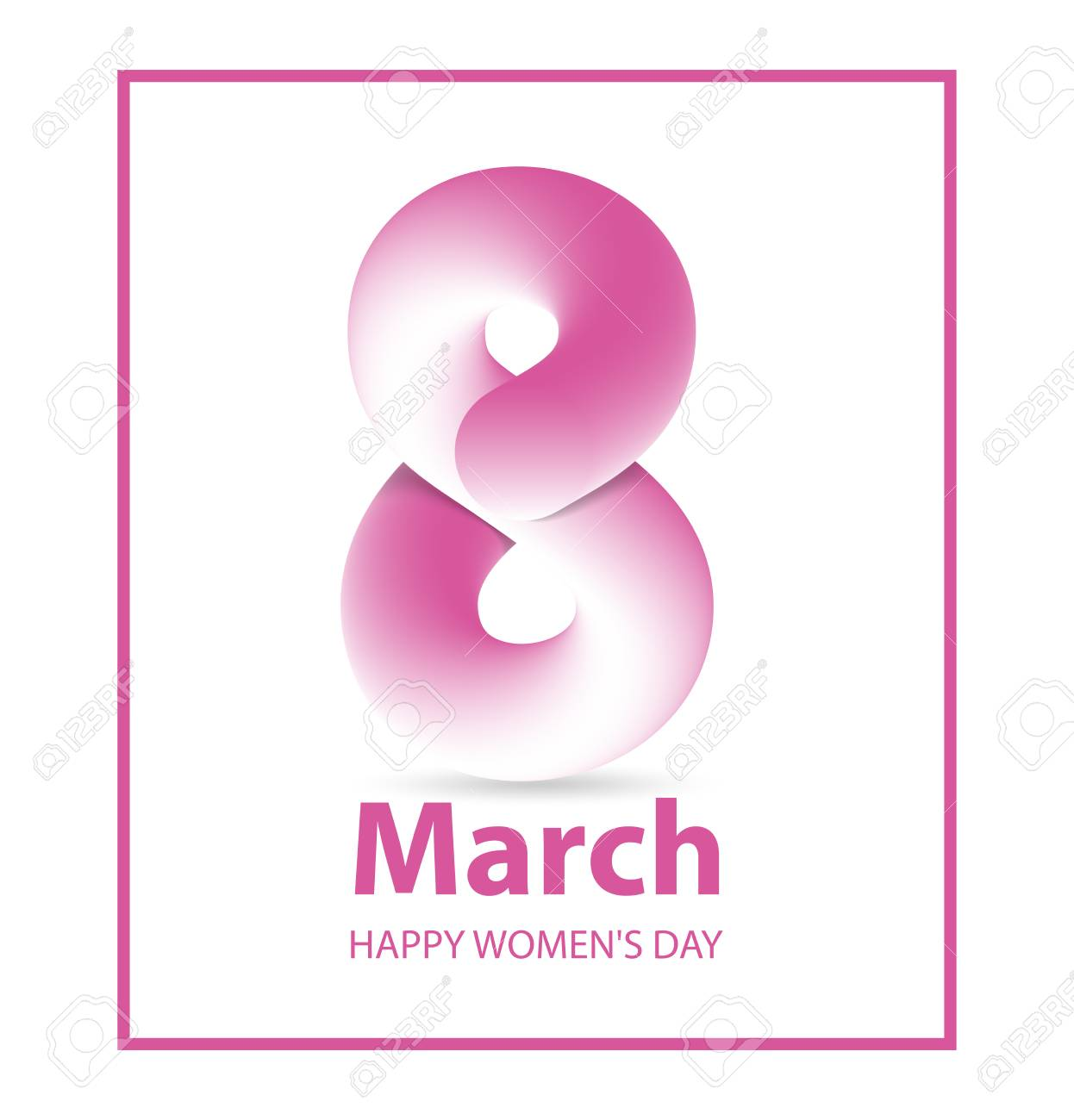 8 March Womens Day Greeting Card Template International Womens