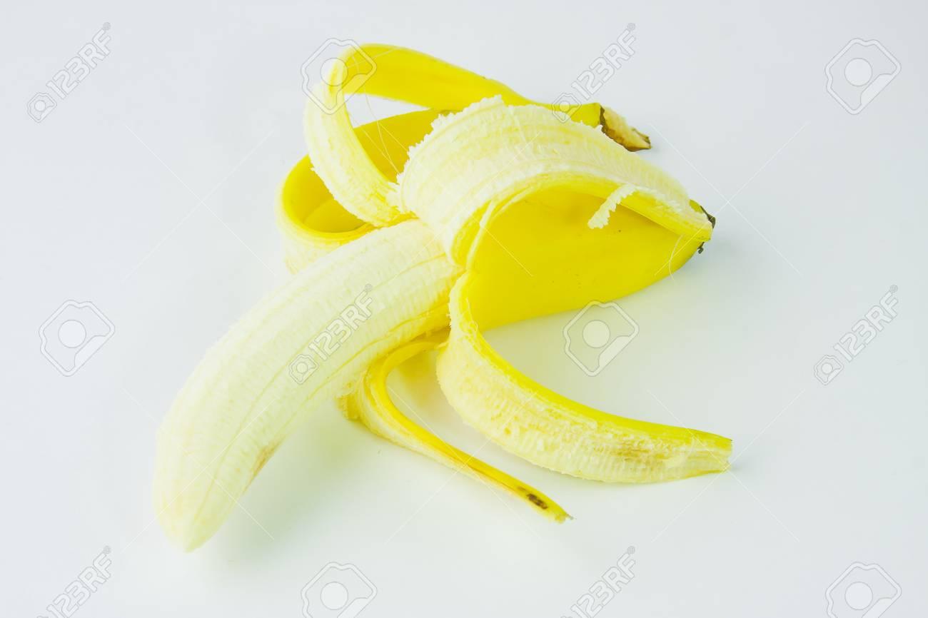 ripe banana on a white background Stock Photo - 17278944