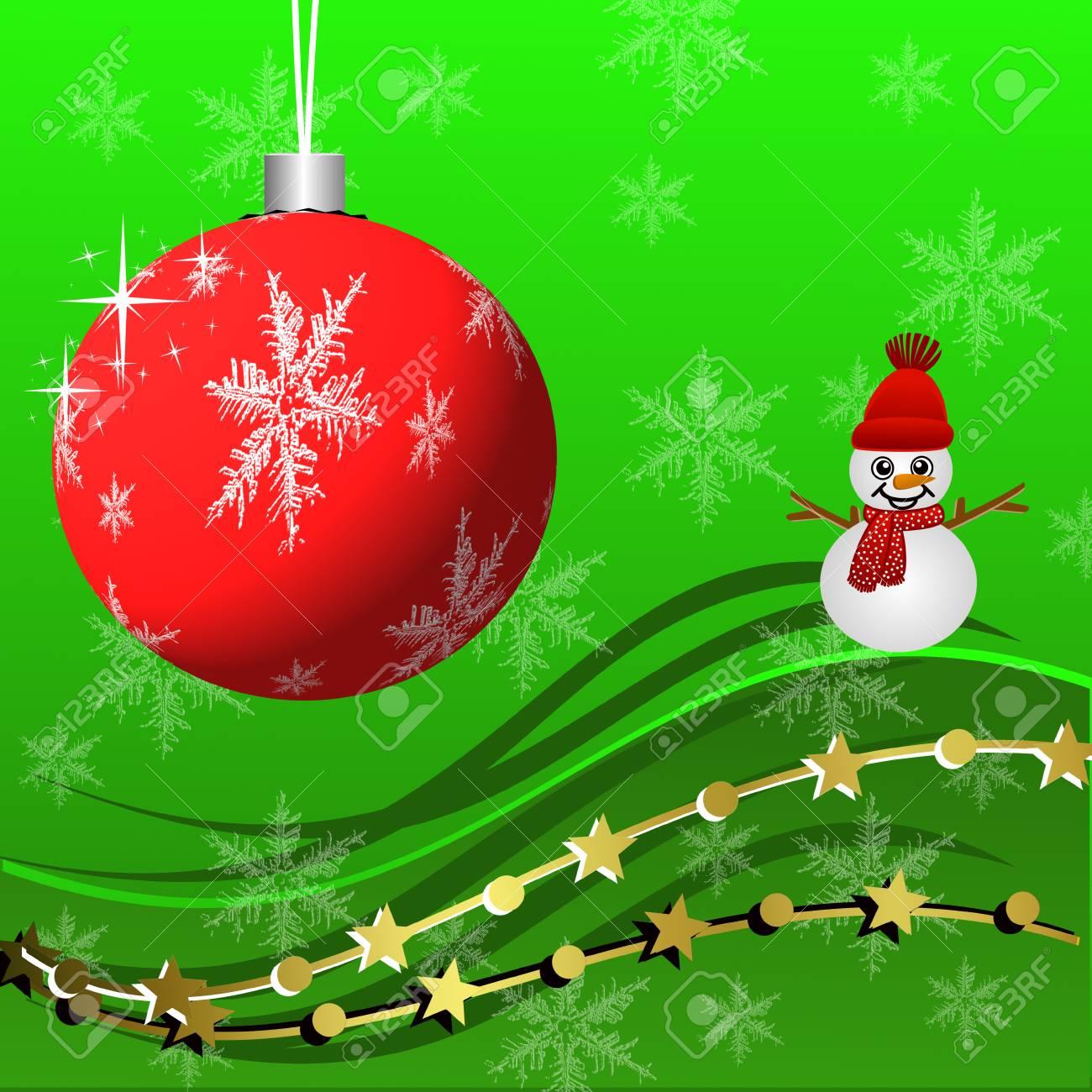 Beautiful Christmas Background Design.Stock Illustration