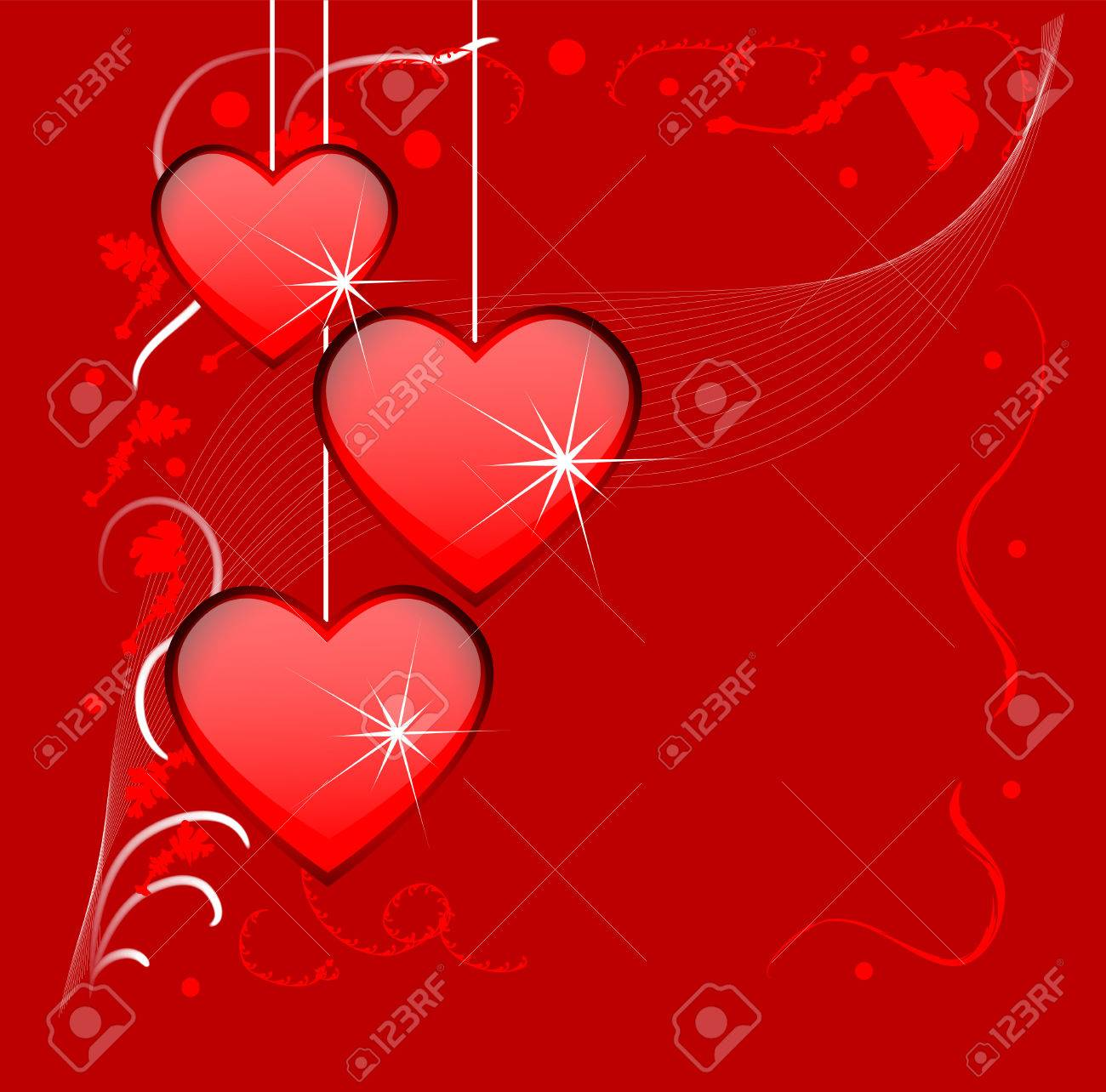 Bright red background with hearts to the day of saint valentin bright red background with hearts to the day of saint valentin stock vector 25401845 altavistaventures Image collections