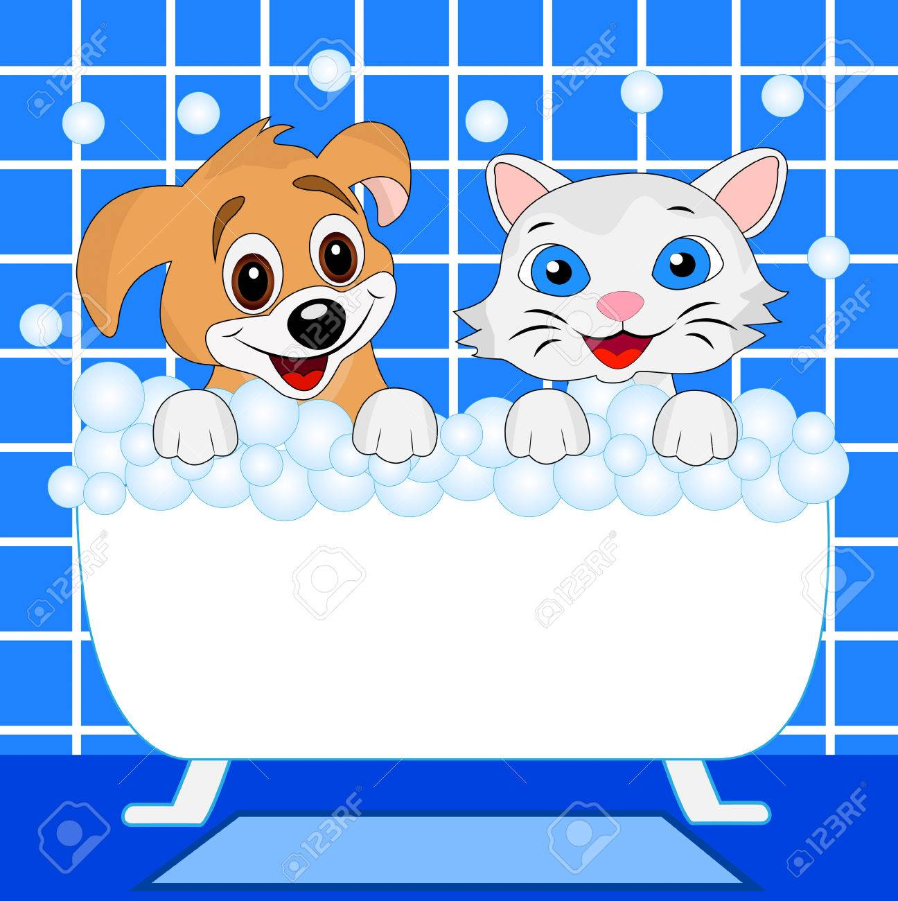 434 Cat Bath Stock Vector Illustration And Royalty Free Cat Bath ...