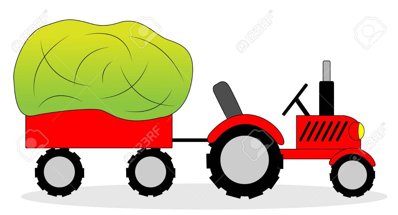 tractor and hay wagon vector illustration royalty free cliparts rh 123rf com