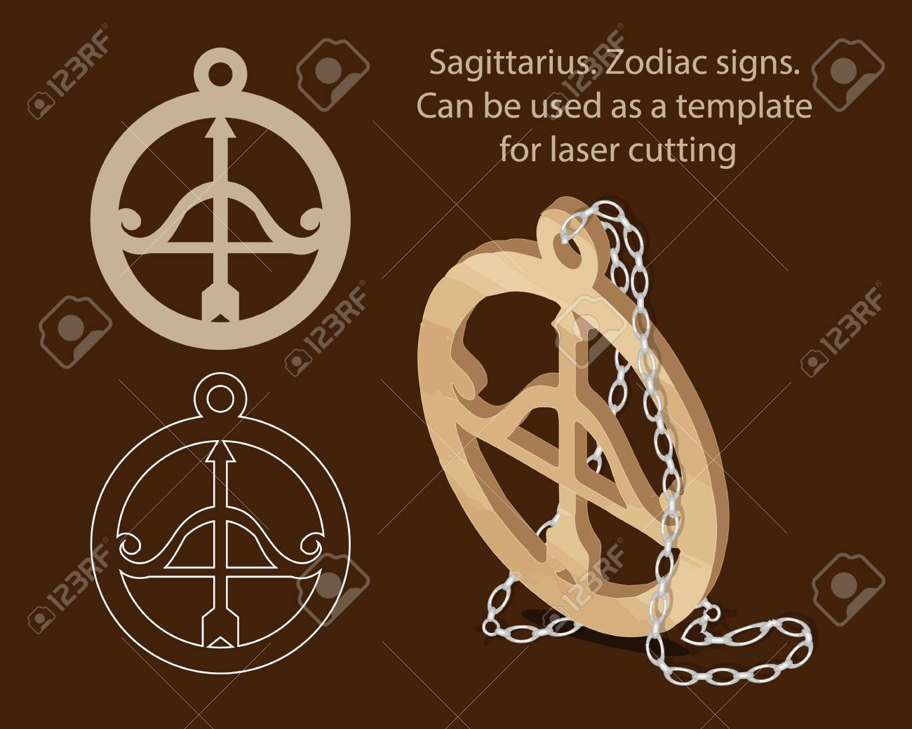 Sagittarius Zodiac Signs Can Be Used As A Template For Laser