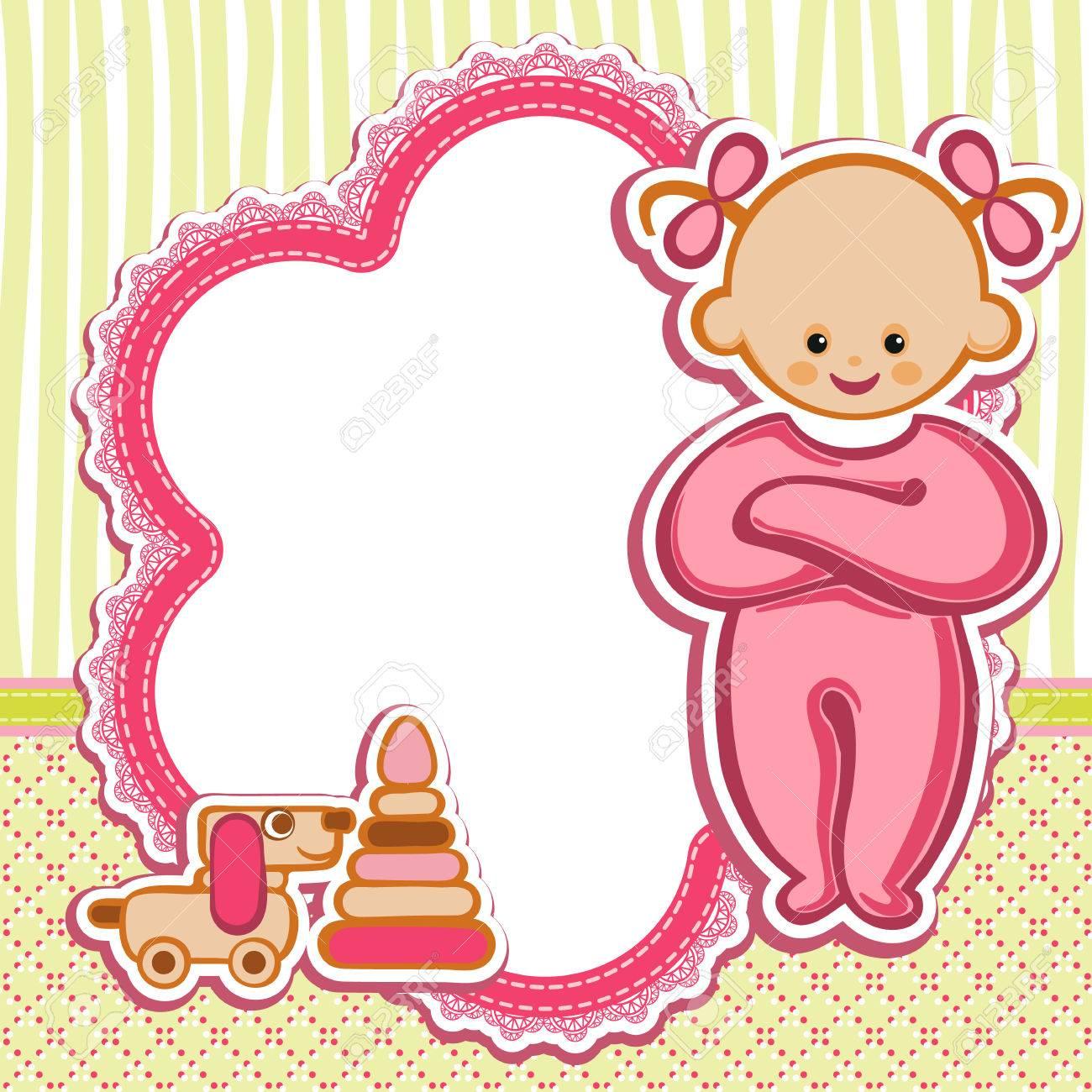 Tarjeta De Cumpleaños Tarjeta De Felicitación Agradable Modelo Lindo Mano Simple Ilustración Artística Dibujado Doodle Por Un Bebé Ducha Saludos