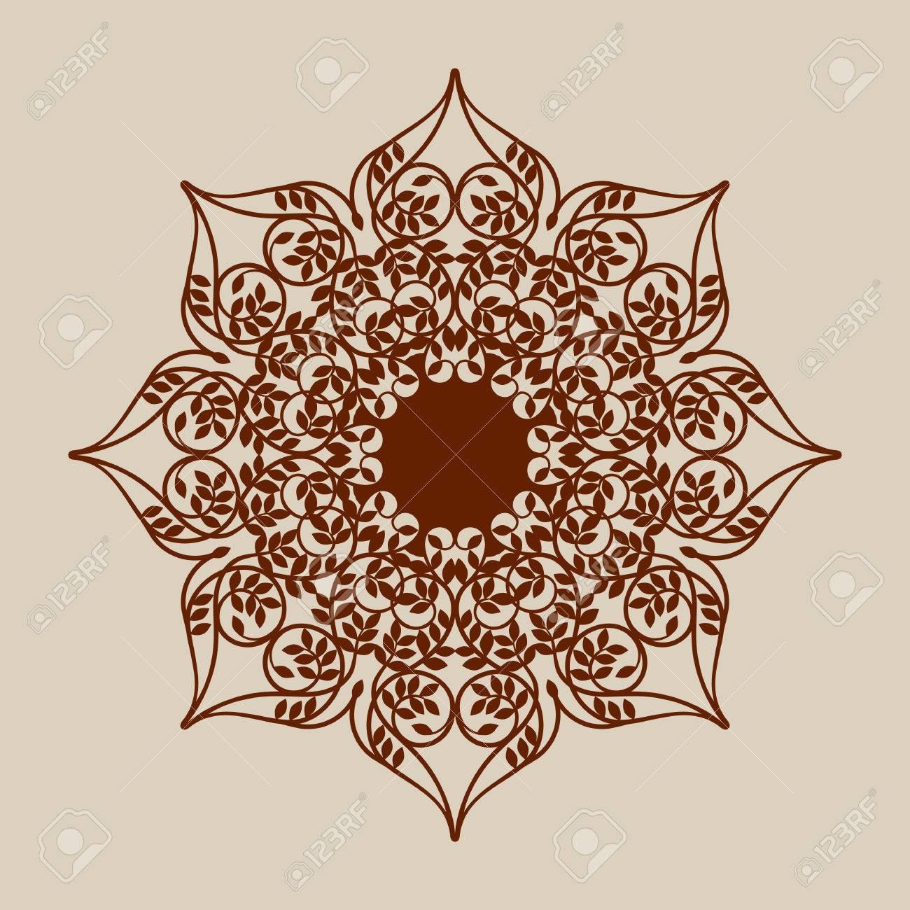 El Patrón De Plantilla Mandala De Roseta Decorativa. Una Imagen ...