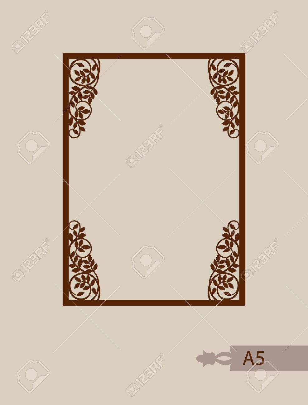 Abstrakte Quadratischen Fotorahmen Mit Strudeln. Muster Ist Geeignet ...