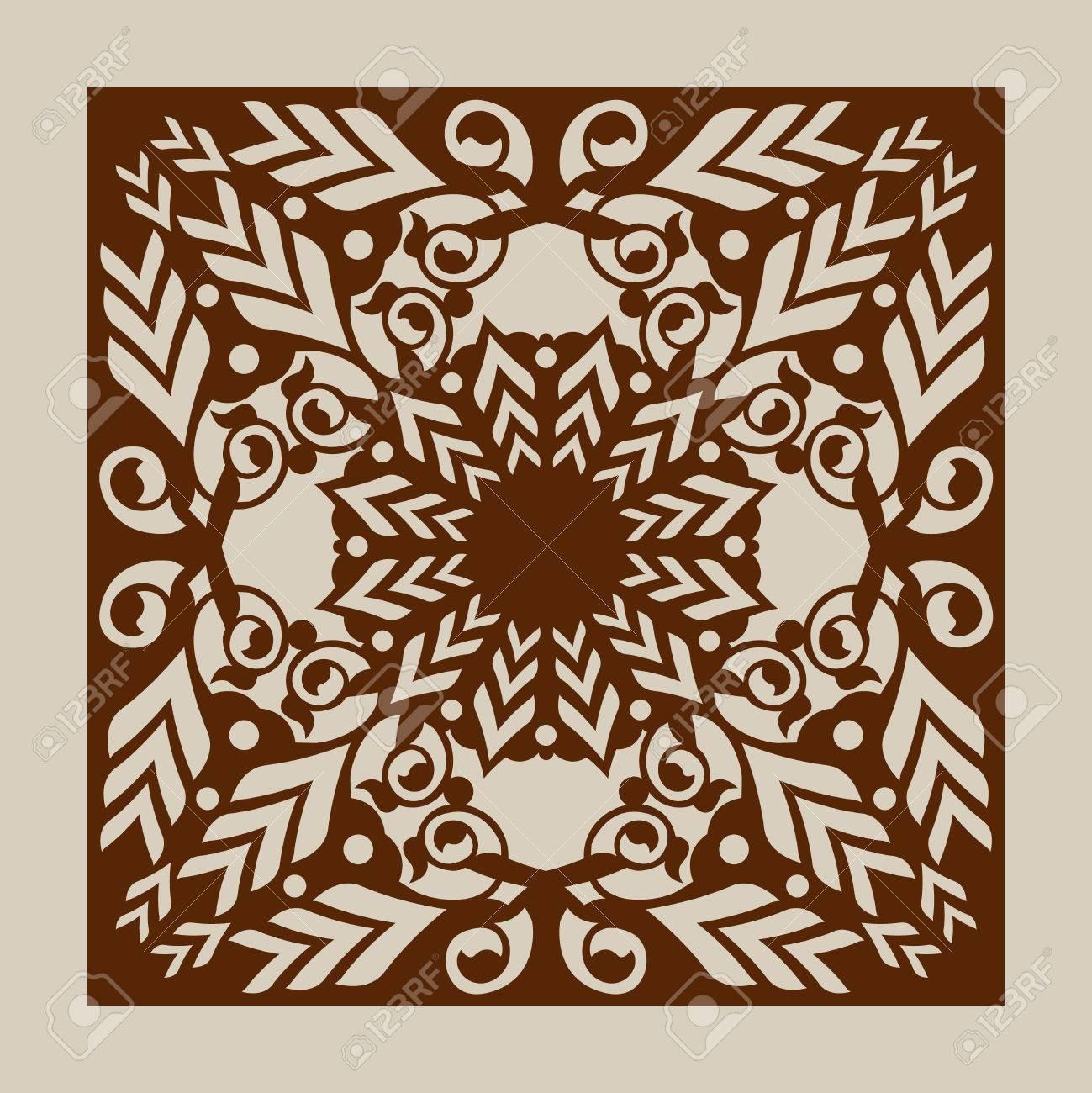 Bien-aimé Ornement Géométrique. Le Motif De Modèle Pour Panneau Décoratif  FY63
