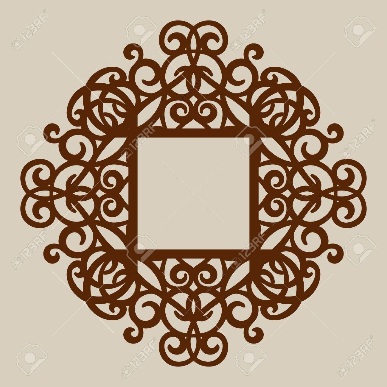 Ornamento Geométrico. El Patrón De Plantilla Para El Panel ...