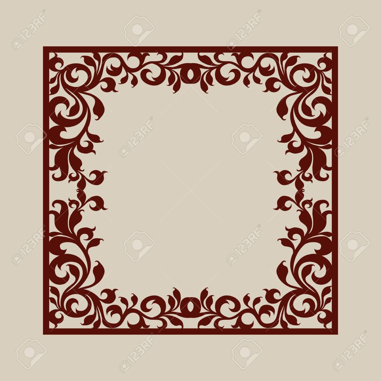 Bien-aimé Ornement Géométrique. Le Motif De Modèle Pour Panneau Décoratif  TG77