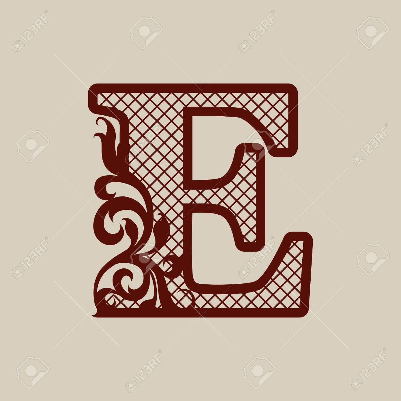 Initial letter e carved openwork pattern template can be used initial letter e carved openwork pattern template can be used for interior design spiritdancerdesigns Images