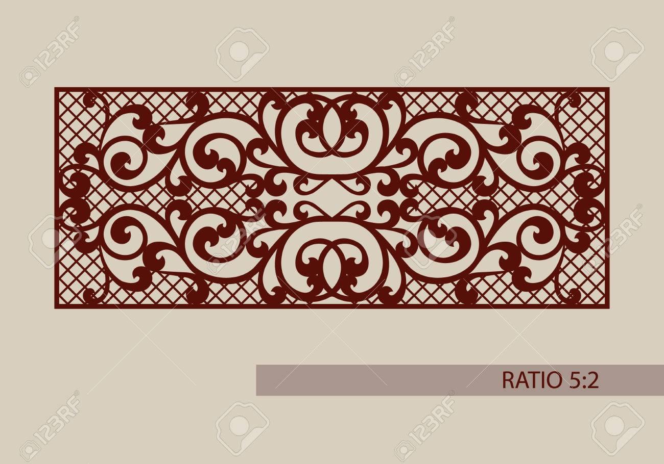 Del Ornamento Del Cordón. Plantilla Para Los Paneles Decorativos. La ...
