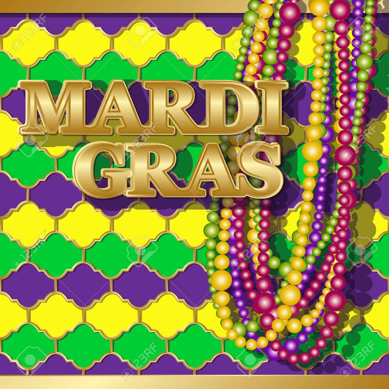 Mardi gras background vector golden text fat tuesday on french mardi gras background vector golden text fat tuesday on french language greeting cards with m4hsunfo Images