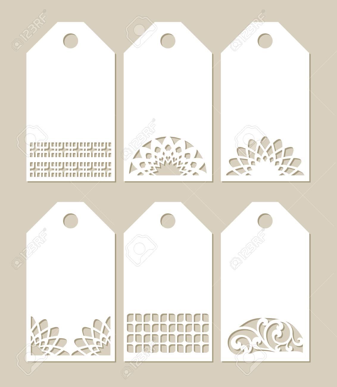 Establecimiento De Las Etiquetas De La Plantilla Con El Patrón De ...